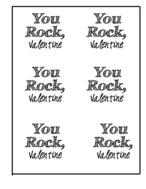 you rock valentines free printable valentines in my pocket