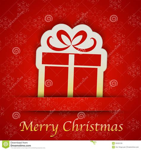 merry christmas gift card   simple gift sign royalty  stock image image