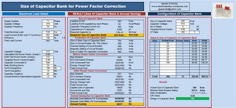 capacitor bank design calculation size of capacitor bank for power factor correction electrical notes articles