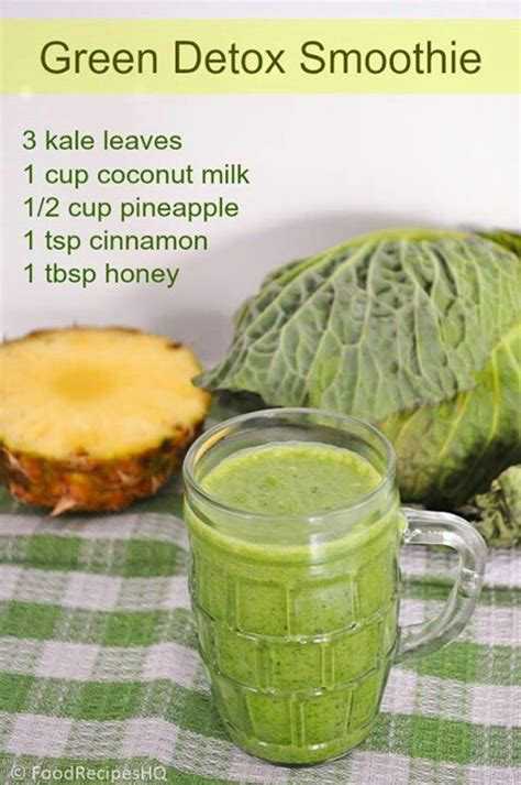 Best Kale Detox Smoothie by Sweet Kale Detox Smoothie Detox Drinks Smoothies