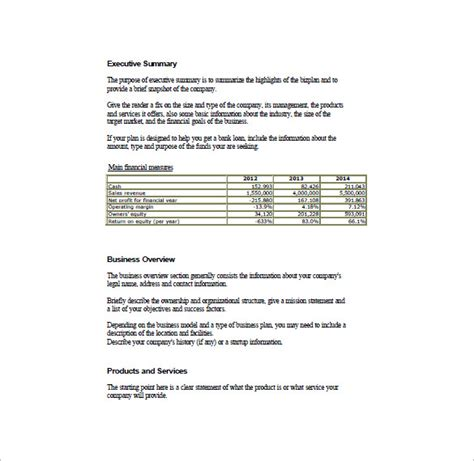 basic business template simple business plan template 14 free word excel pdf