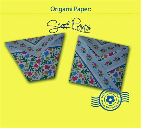 Origami Paper Supplies - the papercraft post scarf print origami paper