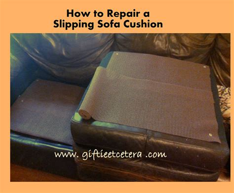 How To Repair Couch Upholstery How To Repair A Slipping Sofa Cushion Giftie Etcetera