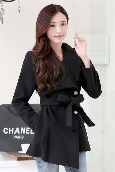 Jaket Wanita Black Import jaket wanita korea black korean coat