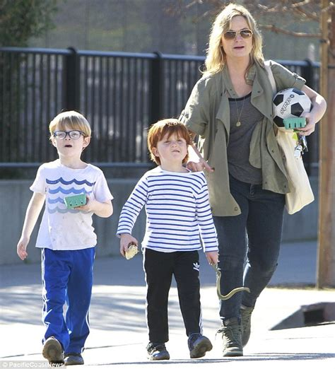 amy poehler sons amy poehler on a soccer outing with sons she had with ex