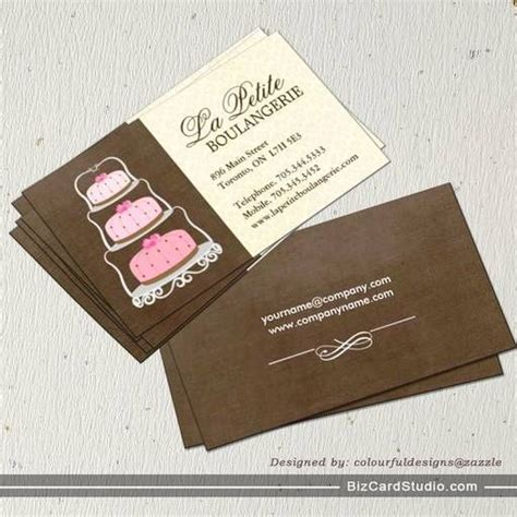 business card template for bakery 1000 images about call card on
