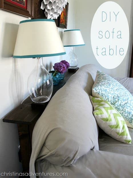 what to put behind a sofa diy sofa table christinas adventures