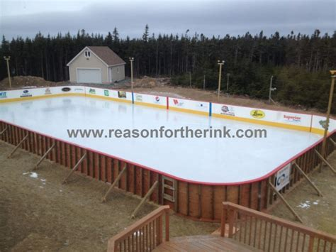 rink with in progress mybackyardicerink community