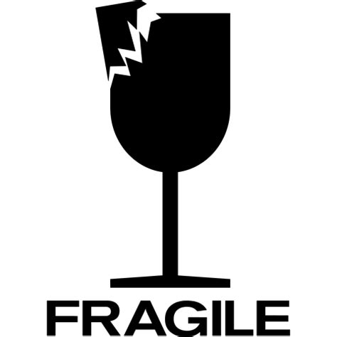 Fragile Zerbrechlich Aufkleber by Glas Shirt T Shirt Shop