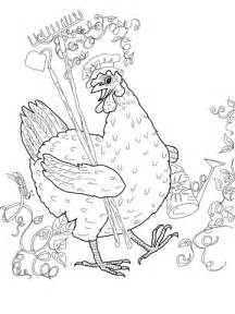 Little Red Hen coloring page | SuperColoring.com