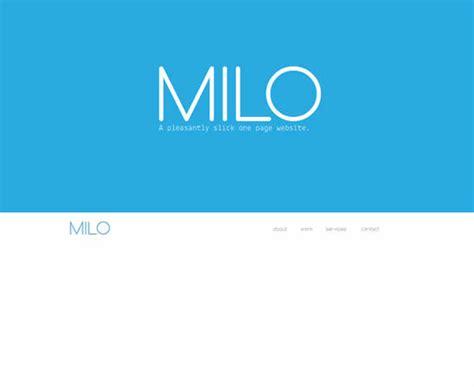 milo template 24 creative responsive adobe muse templates webdesignboom