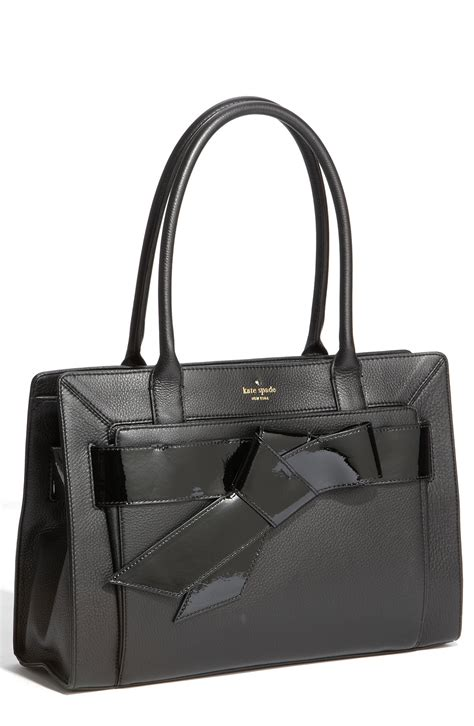 kate spade bow valley helena shoulder bag in black lyst