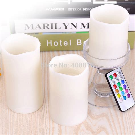 Lilin Hiasan Natal Murah Terbaru lu lilin remote candle light isi 3pcs