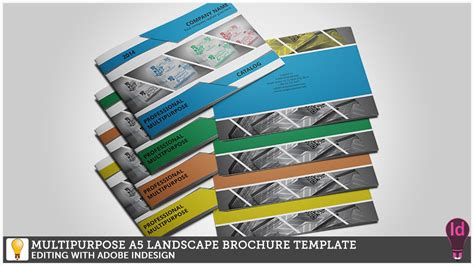 Multipurpose A5 Landscape Brochure Template Editing With Adobe Indesign Youtube Indesign Landscape Template