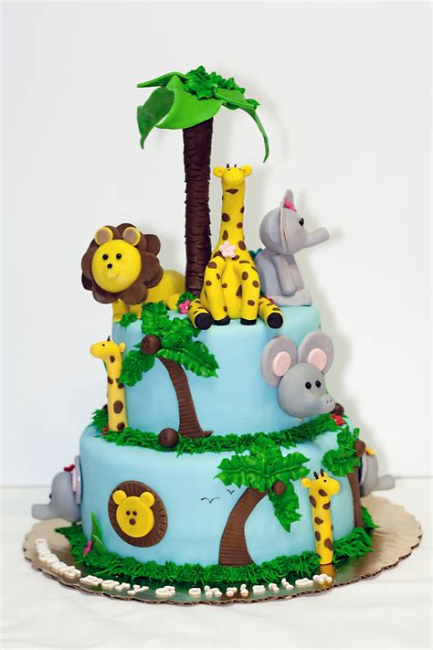 Baby Shower Cakes Safari Theme by Safari Themed Baby Shower Cake Cakecentral