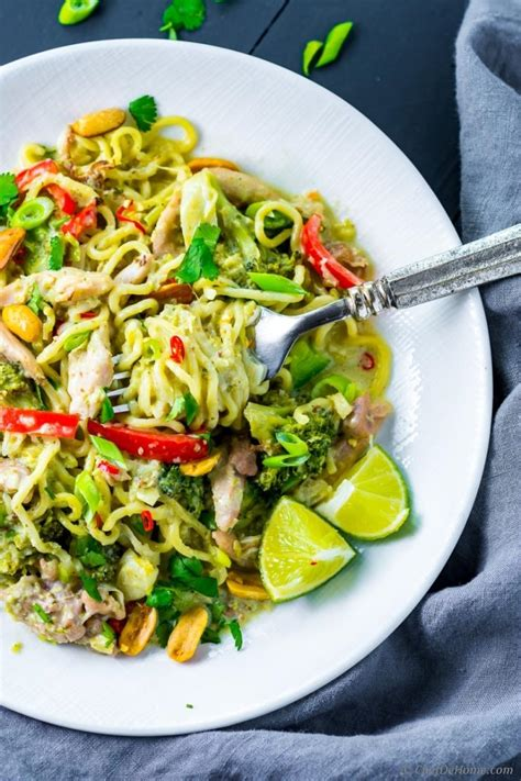 My Favorite Curry Noodles by Thai Green Curry Chicken Noodles Recipe Chefdehome