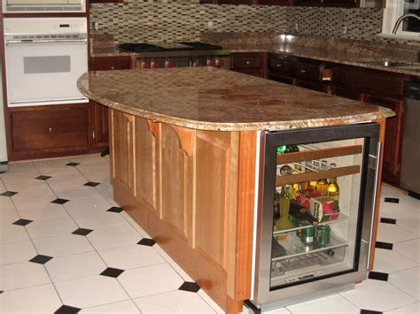 island kitchen counter natural color varnished wooden kitchen island with half
