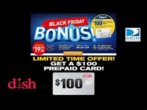 Directv Gift Card - get a 100 gift card w dish or directv new activation deal ends soon youtube