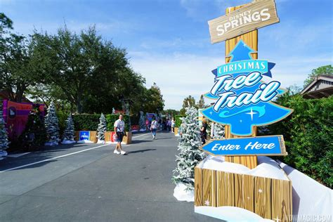 photos disney springs christmas tree trail now open