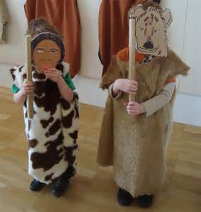 My boys dress up at the salisbury museum stone age exhibition