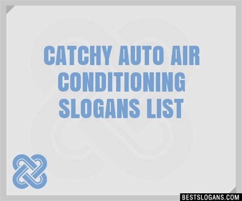 catchy auto air conditioning slogans list taglines