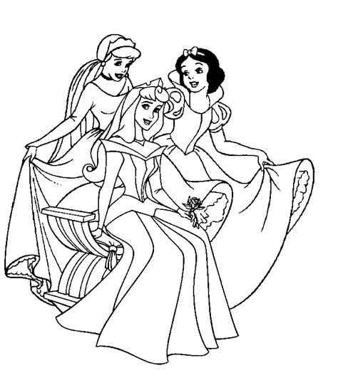 Disney Princesses Coloring Page Coloring Home Princess Coloring Pages For Adults Printable