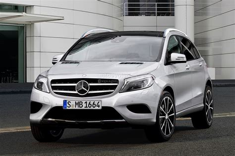 spyshots mercedes gla crossover with rendering