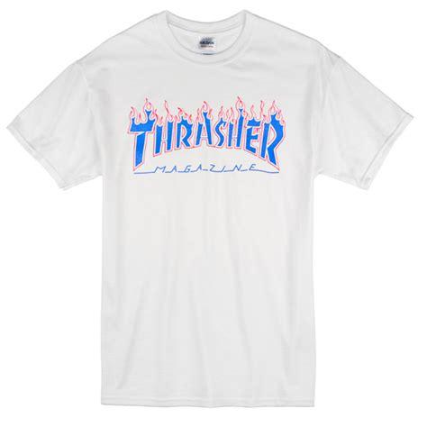 Thrasher Blue Tshirt thrasher blue font t shirt newgraphictees