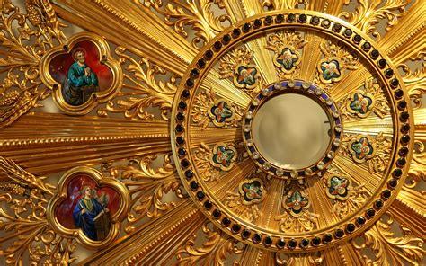 wallpaper catholic detail d un ostensoir full hd wallpaper and background