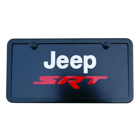 Jeep License Plate Frame Jeep Grand Srt Satin Black License Plate Tag Frame
