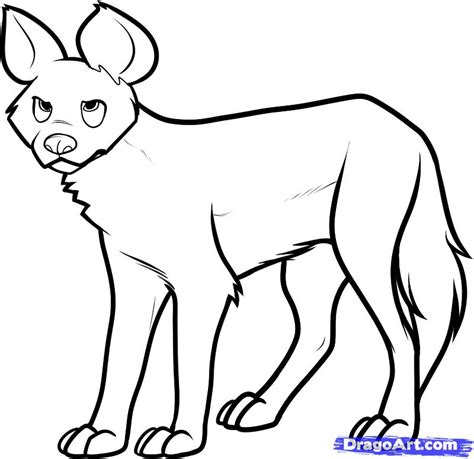 how to draw a wild dog african wild dog step by step