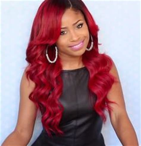 k michelle red weave k michelle inspired fire red hair tutorial by