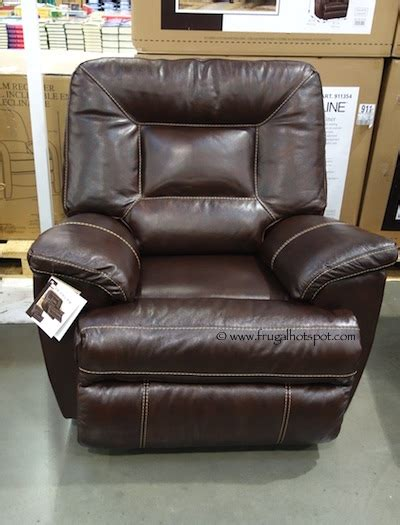 costco recliners comfy berkline tullran leather rocker recliner costco