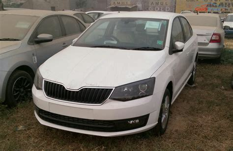 skoda rapid white 2016 skoda rapid facelift launched price spec review