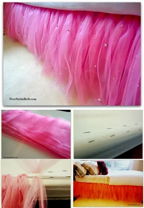 Diy Adorable Bed Skirt Tutu by Diy Table And Bed Tutu Skirts Diy Craft Projects