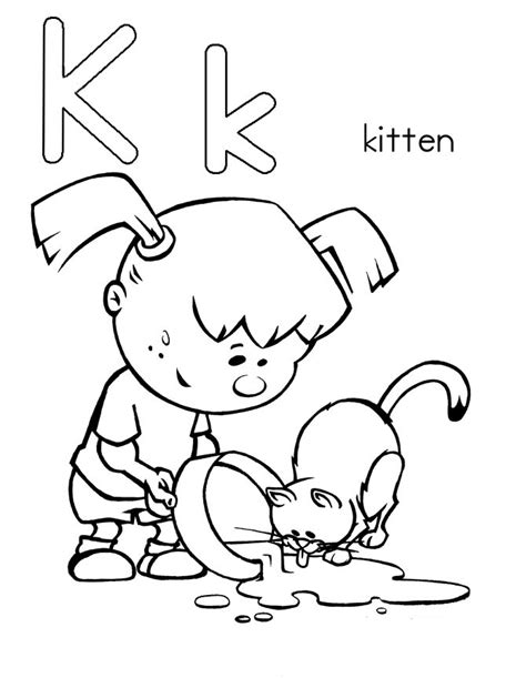 letter k coloring page letter k coloring pages to and print for free