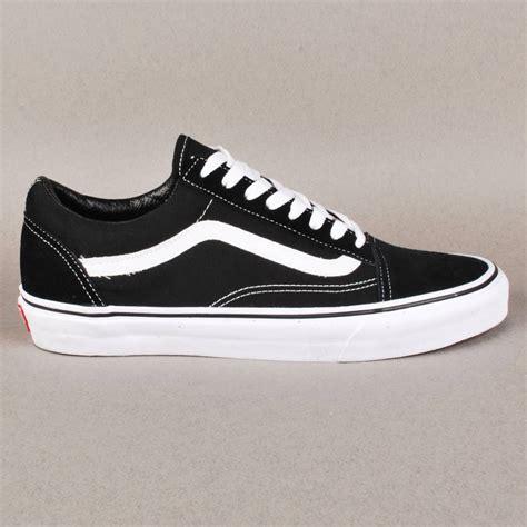 vans vans skool skate shoes black white vans from