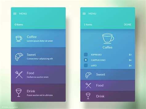 material design ideas menu interface app design design cards and design