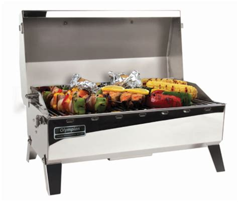 Propane Pit Grill Camco Rv Olympian 4500 Stainless Steel Grill Lp Gas