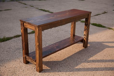 wooden sofa table 48 sofa table solid wood farmhouse sofa table