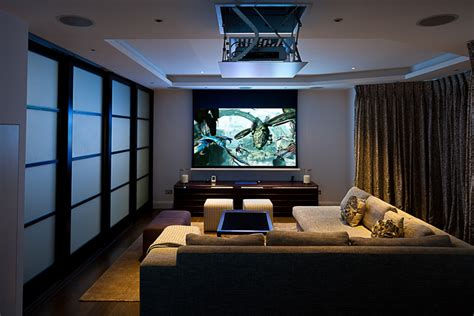 living room movie theater home cinema design installation london inspired