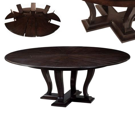 Hidden Dining Table by Round Expandable Solid Oak Dining Table With Hidden Leaves
