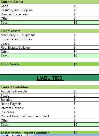 assets and liabilities template excel excel asset tracking template asset tracking template
