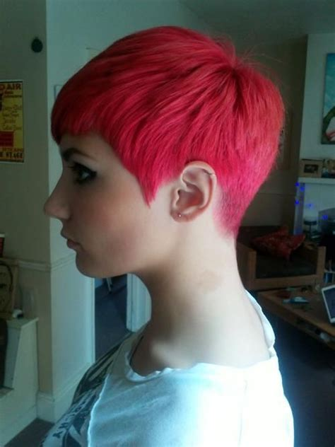 tapered pixie haircut rear view of pixie cut go back clean tapered back