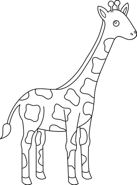 imagenes de jirafas para ninos dibujos de jirafas para colorear y pintar