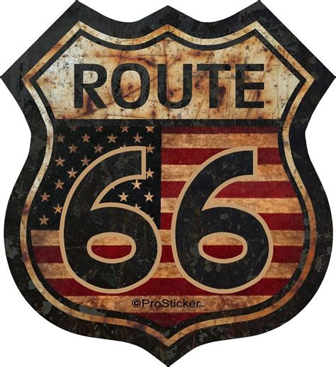 Route 66 Also Search For 1 5 Quot Route 66 American Flag Decal Sticker Junk Yard Rat Rod Us Highway 825 Ebay