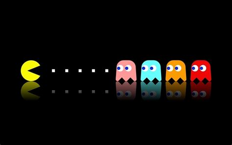 pacman screen pac dual screen wallpaper computer wallpapers