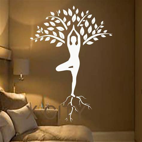 wall vinyls home decor tree wall decals art gymnast decal yoga meditation vinyl