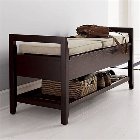 crate and barrel storage bench pin by kate byron on furniture pinterest