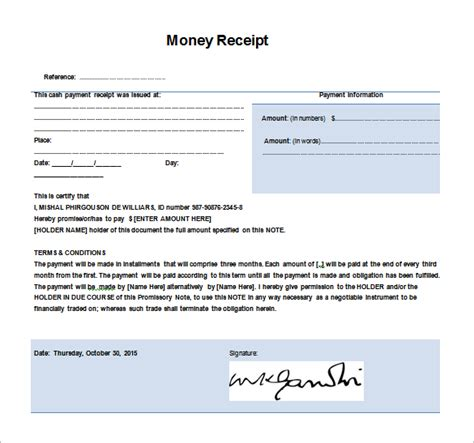 receipt for money received template money receipt template 19 free sle exle format
